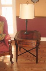 2 Matching Antique Wood End Tables in Aurora, Illinois