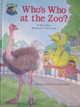 RARE Vintage 1987 Sesame Street Who's Who At The Zoo Hard Cover Book in Joliet, Illinois