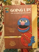 RARE Vintage 1980 Sesame Street Going Up The Elevator Counting Book Hard Cover in Oswego, Illinois
