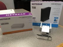 Wi-Fi Router, WiFi Range Extender, 5-port Gigabit Network Switch and USB Adapter BUNDLE in Fort Rucker, Alabama