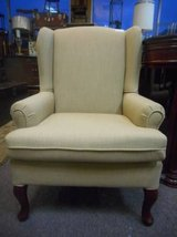 Neutral Wingback Chair in Elgin, Illinois