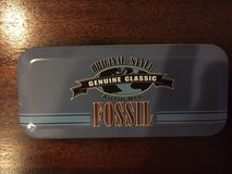 1991 fossil watch tin - 5.5 x 2.5; - genuine classic withfossil ad in Quantico, Virginia