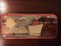 "1991 fossil watch tin - 5.5"" x 2.5"" - boat with ""dinah mo"" on it's aft in Quantico, Virginia"