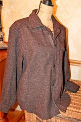 "Banana Republic ""Cabinwear"" Brown Shirt/Coat, Zip& Snap Close, Small in Bolingbrook, Illinois"