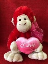 Valentine's Day Monkey toy in Aurora, Illinois