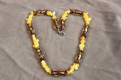 golden yellow necklace hand strung in Houston, Texas