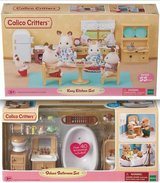 New! Calico Critters Kozy Kitchen --OR-- Deluxe Bathroom Set in Naperville, Illinois
