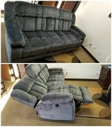 New! St. Albans Gray Fabric Power-Assist Reclining Sofa FREE DELIVERY in Camp Pendleton, California