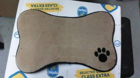 Paw Embroidered Pet Mat in Taupe in Moody AFB, Georgia