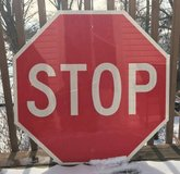"""Retired VINTAGE ALUMINUM STOP Sign - 30"""" x 30"""" in Chicago, Illinois"""