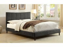 New! QUEEN or KING GRAY Linen Bed Frame FREE DELIVERY starting in Camp Pendleton, California