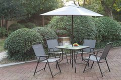 New! 6 Pcs Table + 4 Chairs + Umbrella Outdoor Patio Set FREE DELIVERY in Camp Pendleton, California
