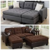 ?New Mini Sectional+Ottoman Sofa FREE DELIVERY in Camp Pendleton, California