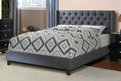 New! QUEEN Blue Gray Upholstered Frame FREE DELIVERY in Camp Pendleton, California