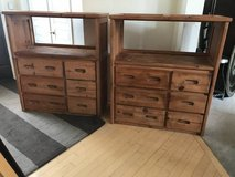 Two 6 Drawer 1 Shelf Solid Pine Dresser by Woodcrest in Naperville, Illinois