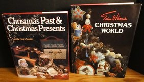 Christmas Past & Christmas Presents 1993 and Erica Wilson's Christmas World 1980 HC in Naperville, Illinois