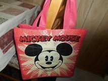 "Exclusive DisneyStore  MICKEY MOUSE  Lightweight Tote/ Shopping Bag! 13"" Nylon in Spring, Texas"