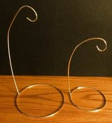 Lot of 2 Gold Brass Metal Ornament Display Stands Holders Hangers in Naperville, Illinois