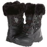 NEW w Tags US Polo Assn BLACK Arctic Boot Womens 6 Mid-Calf Faux Fur Lace-Up in Morris, Illinois