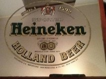 Heineken Imported Holland Beer Mirror Bar Advertisement Man Cave Wall in Beaufort, South Carolina