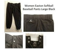 Ladies / Teen girls Easton Baseball / Softball Pants Black Large in Fort Rucker, Alabama