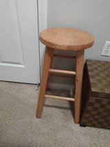 Small round maple bar stool  24 inches tall in Travis AFB, California