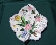 CAKE PLATE Vtg Southern Potteries BLUE RIDGE China, VERNA Hand-Painted in Brookfield, Wisconsin