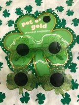 St.Patricks Day Shamrock Sunglasses Children's Size in Joliet, Illinois
