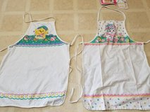 Two Spring aprons in Camp Pendleton, California