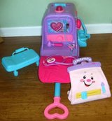 Doc McStuffins Get Better Talking Mobile Cart + Fisher Price Medic Bag in Orland Park, Illinois