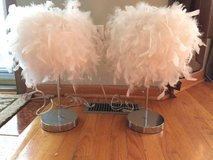 2 Feathered table lamps in Joliet, Illinois