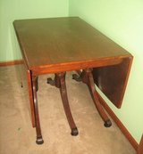 Vintage 1957 Lassers Furniture Wood Table & 6 Chairs in Chicago, Illinois