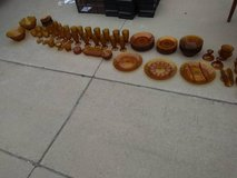 Indian Glass Amber Daisy 85 piece in Travis AFB, California