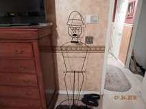 Wire Frame Man & Woman Clothes Stands in Fort Benning, Georgia