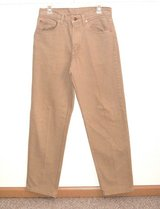 Levis 550 Tan Sand Relaxed Fit Tapered Leg Denim Jeans Tag 32x32 Measures 30x32 in Plainfield, Illinois