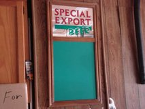 special export beer chalkboard and mirror - like new-great for mancave in Aurora, Illinois