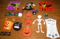 Halloween Decorations - Hanging Wood & Metal - ANY 6 for $10 in Orland Park, Illinois