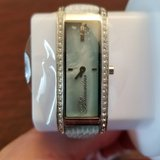 blumarine skinny women`s mother of pearl with swarovski crystals watch in St. Charles, Illinois
