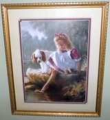 Framed Art - Girl with her Dog - by Mark Arian in Orland Park, Illinois