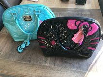 2 Hello Kitty Loungefly Bowler Bag-Black +Pink & Turqiouse in Naperville, Illinois