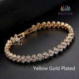 New 18K Yellow Gold Plated Bracelet for Women with Cubic Zirconia in Fort Drum, New York