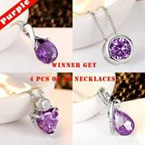 New White Gold PLated AAAAA CZ Purple Jewelry 4 pcs in Fort Drum, New York