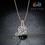 3.0 CTTW Genuine Zircon Necklace in Yellow Gold Plated in Fort Drum, New York