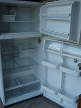 WHITE FRIGIDAIRE FRIDGE COMPLETE WITH SPICKET ON DOOR WITH ACCESSORIES in Lockport, Illinois