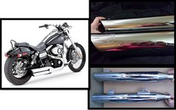 2 different sets of exhaust tips for a Harley in Fort Rucker, Alabama