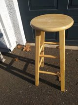 1 tall round wooden bar stool counter chairs in Travis AFB, California