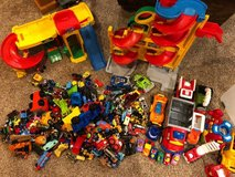HUGE Lot of toy cars and garage & more. in St. Charles, Illinois