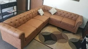 New! Camel Tufted Sectional and Ottoman FREE DELIVERY in Camp Pendleton, California