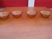 Vintage AMBER GOLD DEPRESSION GLASS Small Fruit, Cereal, or Candy Dish in Travis AFB, California