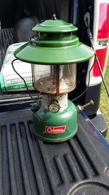 1966 Colman Big Hat Double Burner Lantern in Morris, Illinois